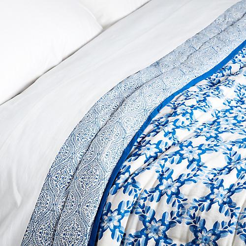 Dalia/Boa Lace Quilt, Peri Blue
