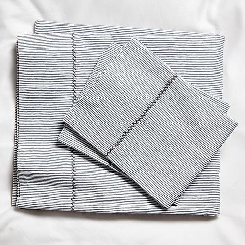 Capelini Stripe Sheet Set, Gray