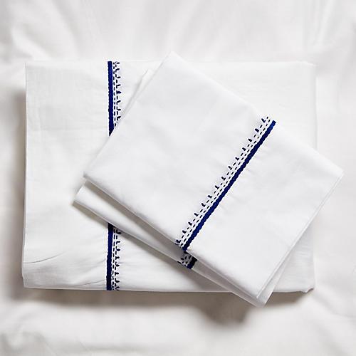Auden Sheet Set, Cobalt