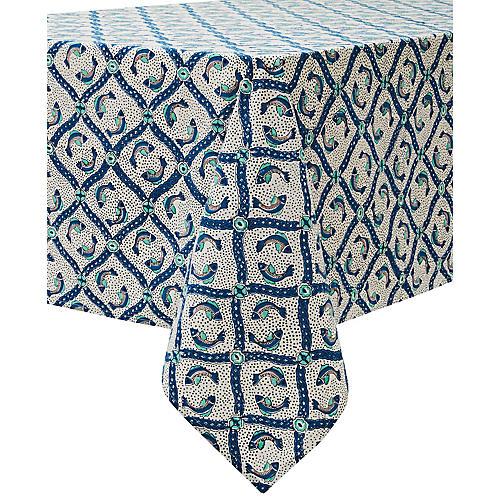 Mabeul Tablecloth, Blue/Multi