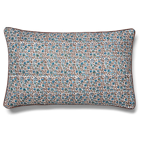 Keya 15x24 Quilted Pillow, Sky