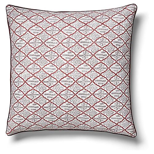 Trellis 22x22 Pillow, Rosewood
