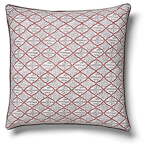Trellis 22x22 Pillow, Rosewood