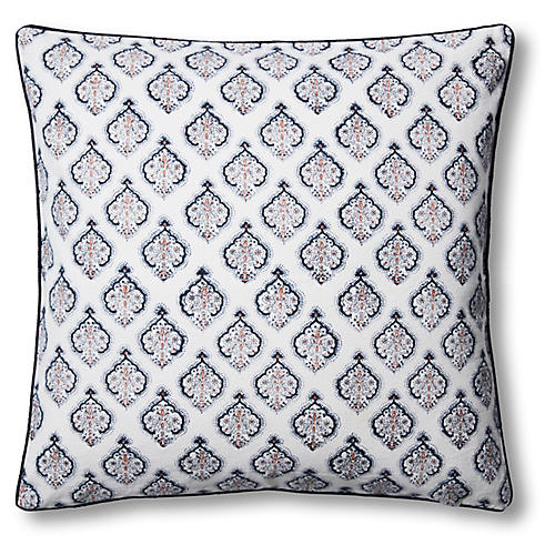 Estampe 22x22 Pillow, Navy