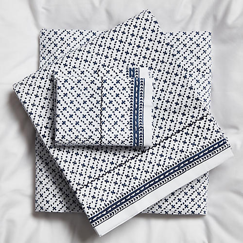 Poincon Sheet Set, Navy Negative