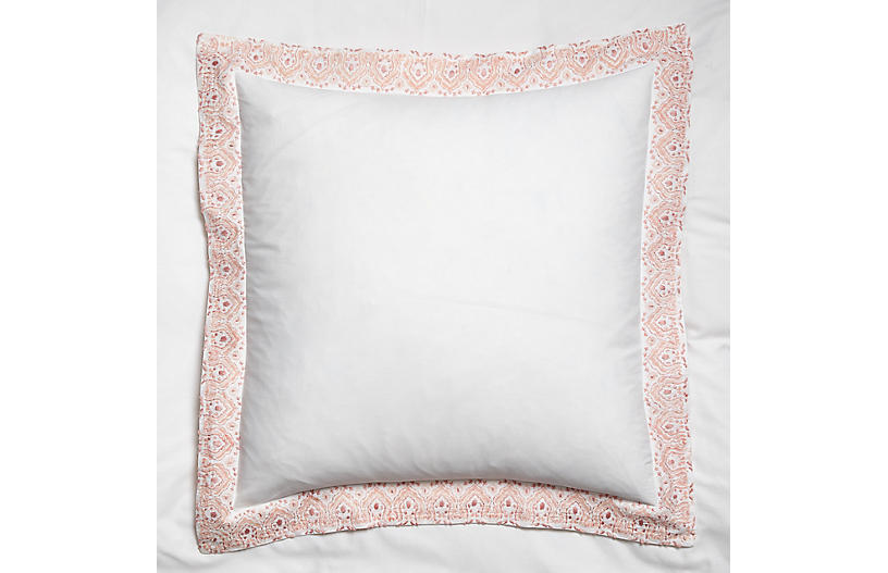 S/2 Edges Euro Shams, Pink