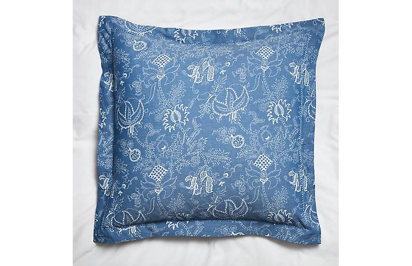 S 2 Amanda Trace Euro Shams Blue Shams Duvet Covers