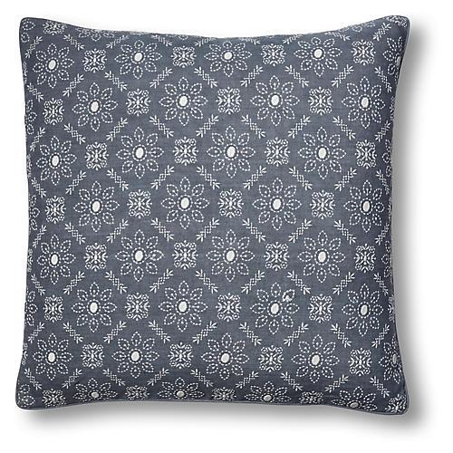 Pergola 22x22 Pillow, Slate Linen