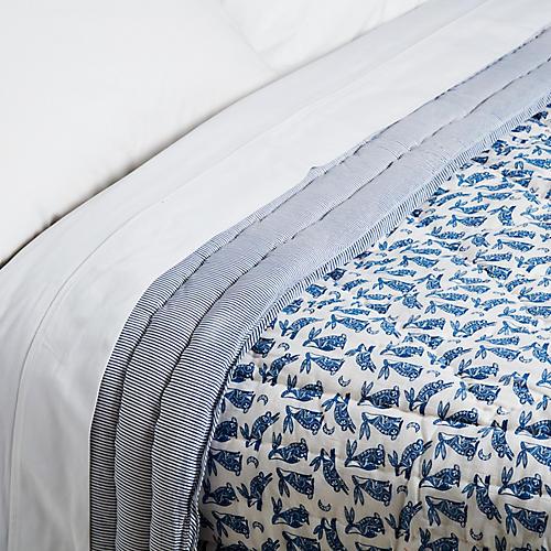 Batik Quilt, Navy