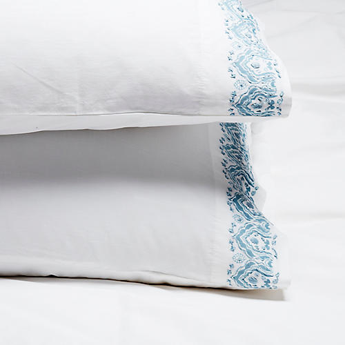 S/2 Edges Pillowcases, Cloud