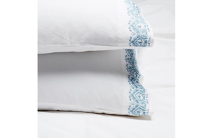 S/2 Edges Pillowcases, Cloud