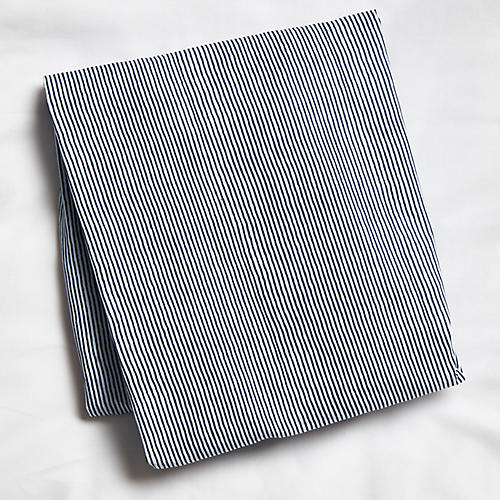 Capellini Fitted Crib Sheet, Navy