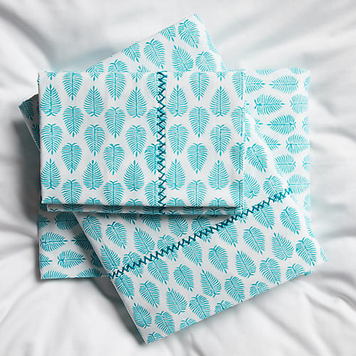 Cypress Sheet Set, Aqua