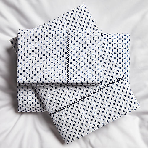 Sisteron Sheet Set, Navy
