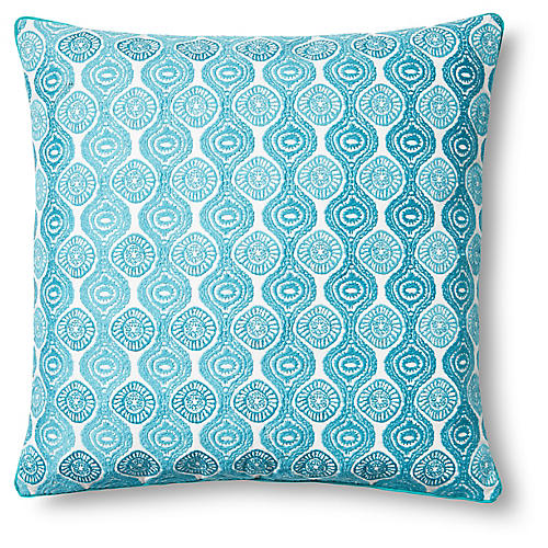Ilyad Pillow Cover, Teal