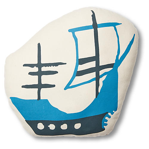 Imani Ship Pillow, Blue