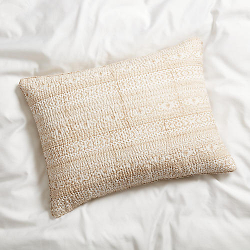 S/2 Lister Quilted Shams, Latte
