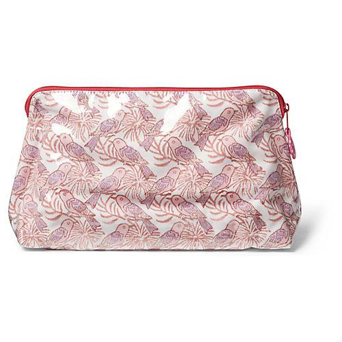 Spurv Makeup Bag, Pale Pink/Violet