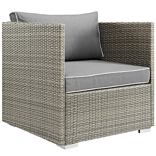 Repose Club Chair, Gray