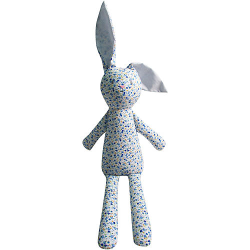 Babbitt Rabbit Plush Toy, Blue