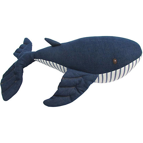 Willy Whale Plush Toy, Denim/Multi