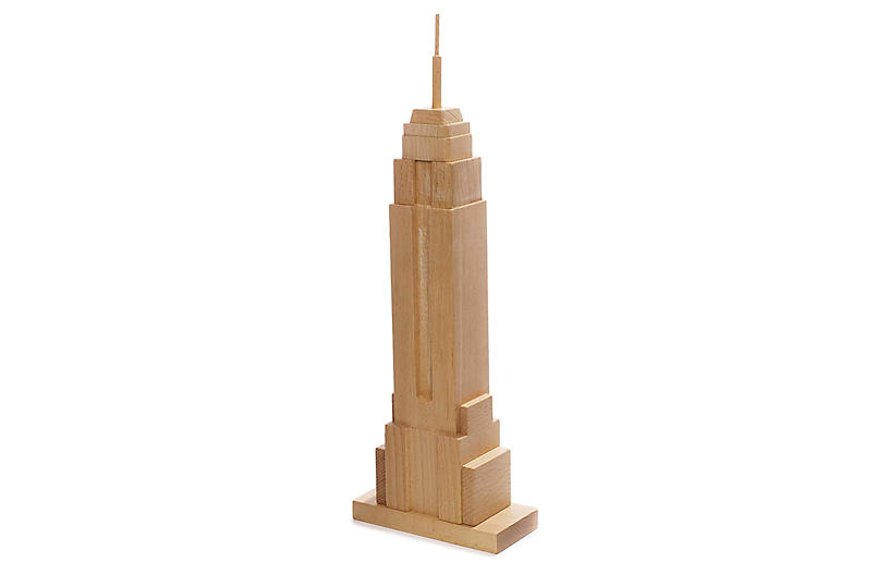 Empire State Building Block Set, Natural