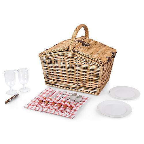 Piccadilly Picnic Basket Set, Natural/Multi