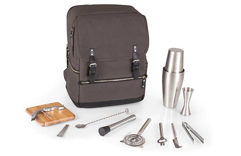 Bar Backpack Set, Gray/Multi