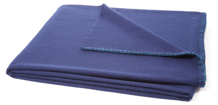 Week-Ender Alpaca Throw, Navy