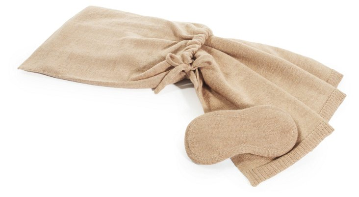 Alpaca-Blend Travel Set, Beige