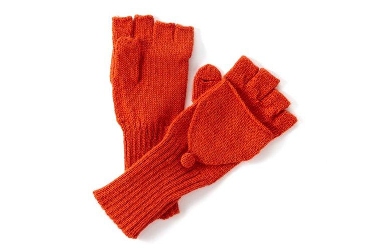 Fingerless Gloves, Orange