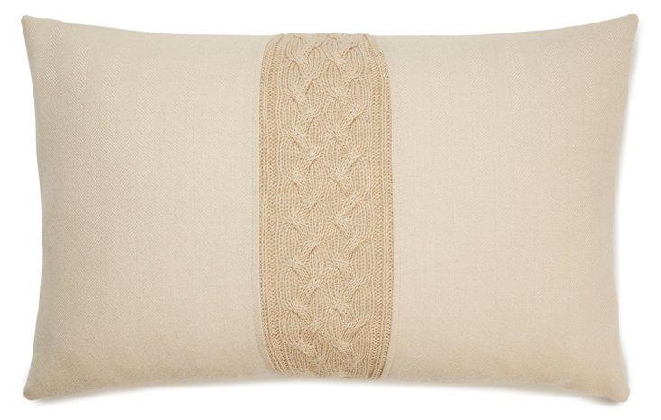 Herringbone 13x20 Pillow, Beige
