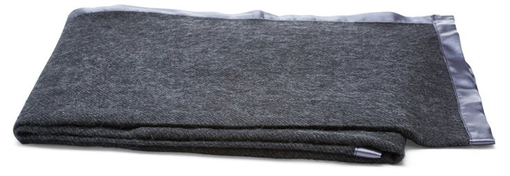 Flanagan Alpaca Throw, Charcoal