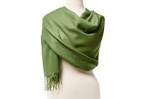 Alpaca/Silk Portofino Wrap, Green