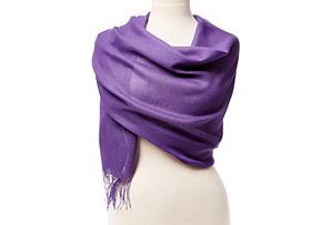Alpaca/Silk Portofino Wrap, Purple