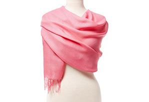 Alpaca/Silk Portofino Wrap, Pink