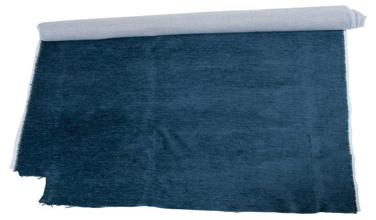 Blue Velour Fabric, 1.5 Yds.