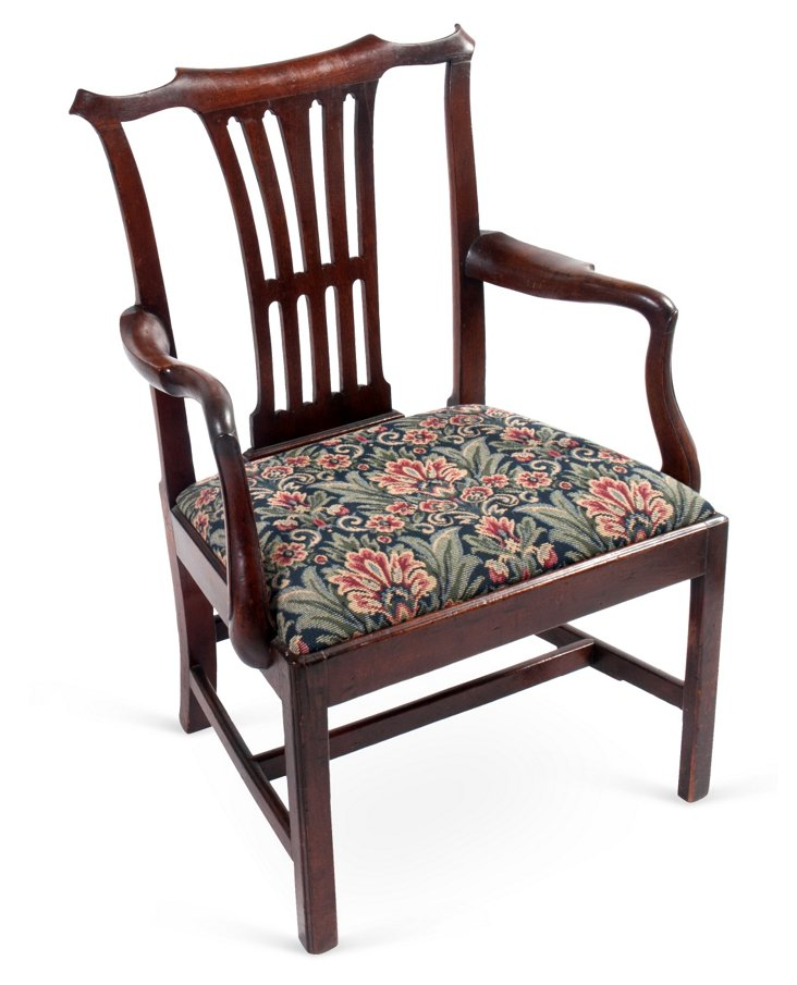 C. 1780 Georgian Armchair
