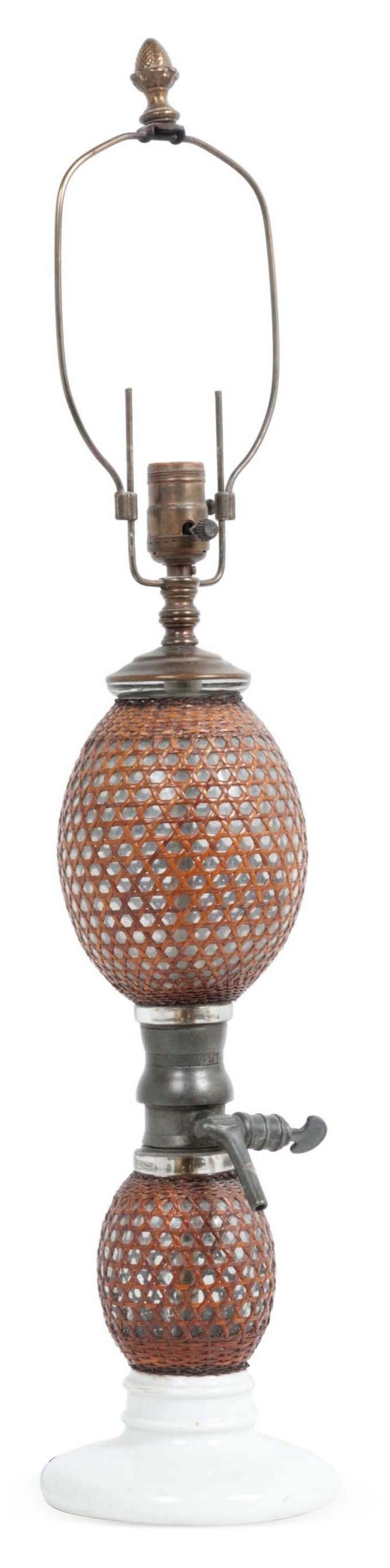 Antique Seltzer Bottle Lamp