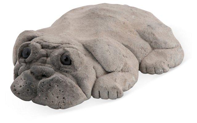 Sculpture of a Bulldog Puppy