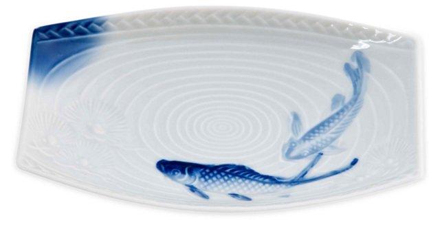 Blue & White Fish Dish