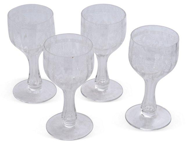 Hollow Stem Glasses, Set of 4