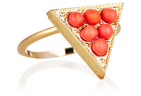 Tristan Ring, Coral/Gold