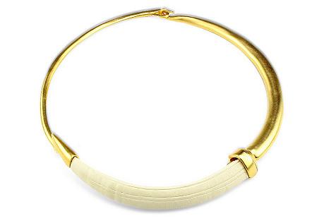 Athena Collar Necklace, Soft Neutral