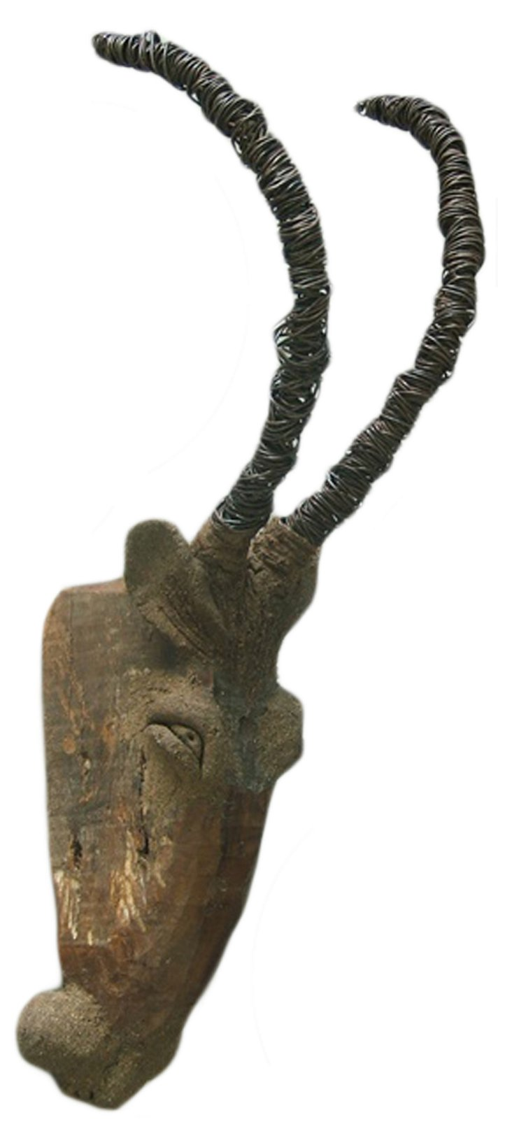 Chin Goat Head, Natural/Silver