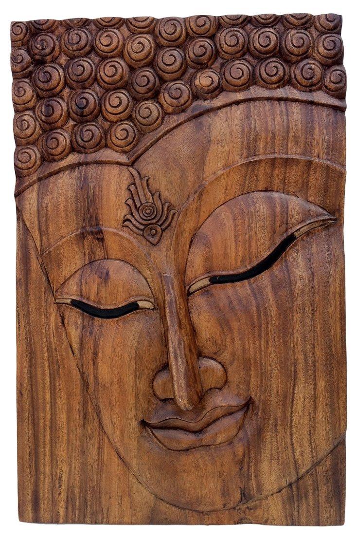 Carved Buddha Panel