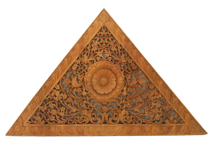 Triangle Carved Panel
