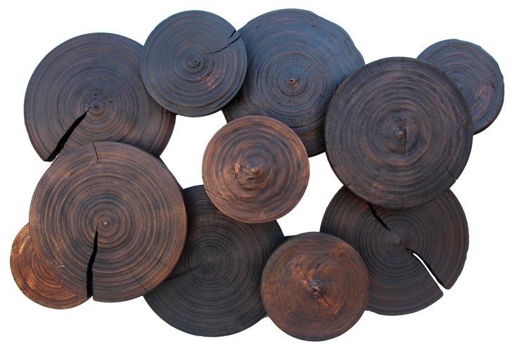 Wooden Wheel Wall Art
