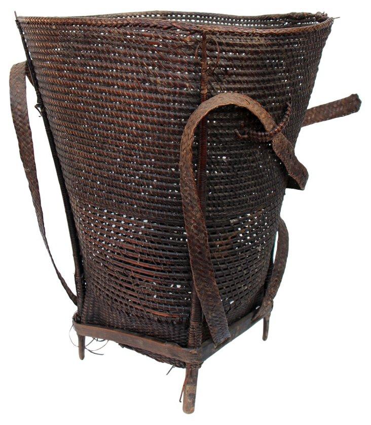 Vintage Hill Tribe Basket I