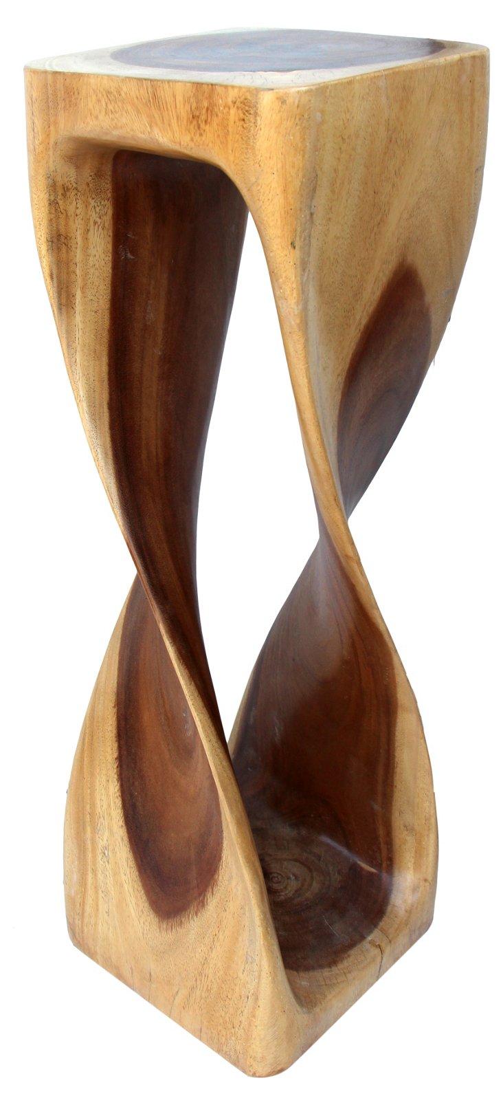 Estelle Mango Wood Stool, Natural